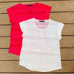 Bundle of 2 Apt 9 partially see through tee shirts